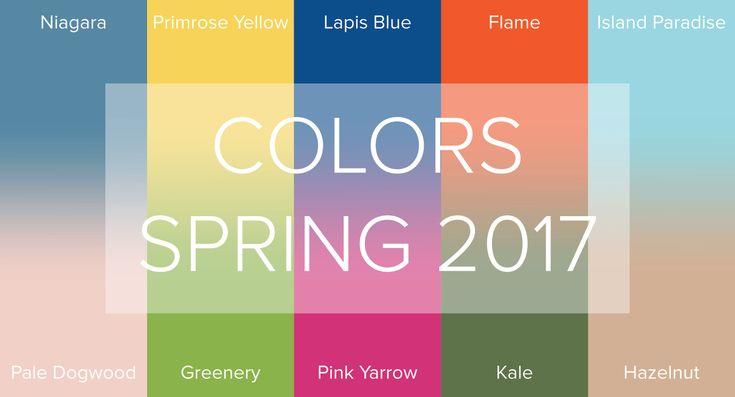 Spring 2017 colour forcast