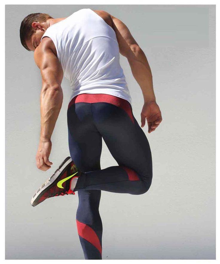 Aqux Men's Spandex Workout Leggings