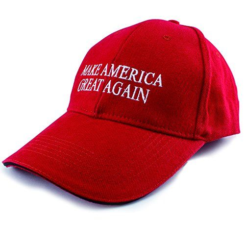 Allezola Embroidered Make America Great Again Hat Donald Trump 2016 Adjustable Cap Baseball Hat(3 Colors) (Red) Allezola
