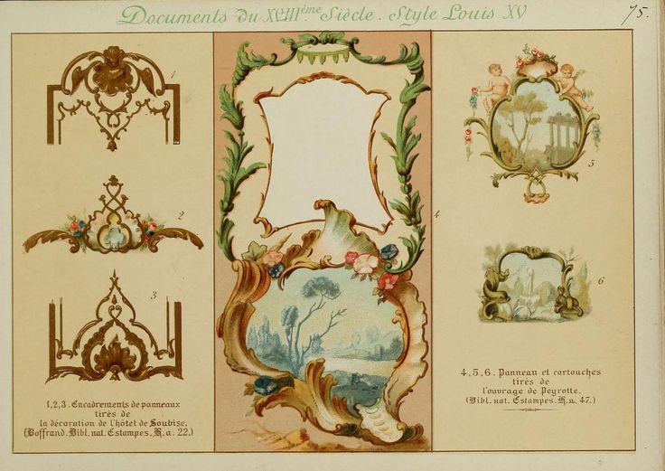 fleurs ornementales acanthe art aprs nature interprtations applicables diverses interprtations chinoiseries xviii enluminure ornements peinture