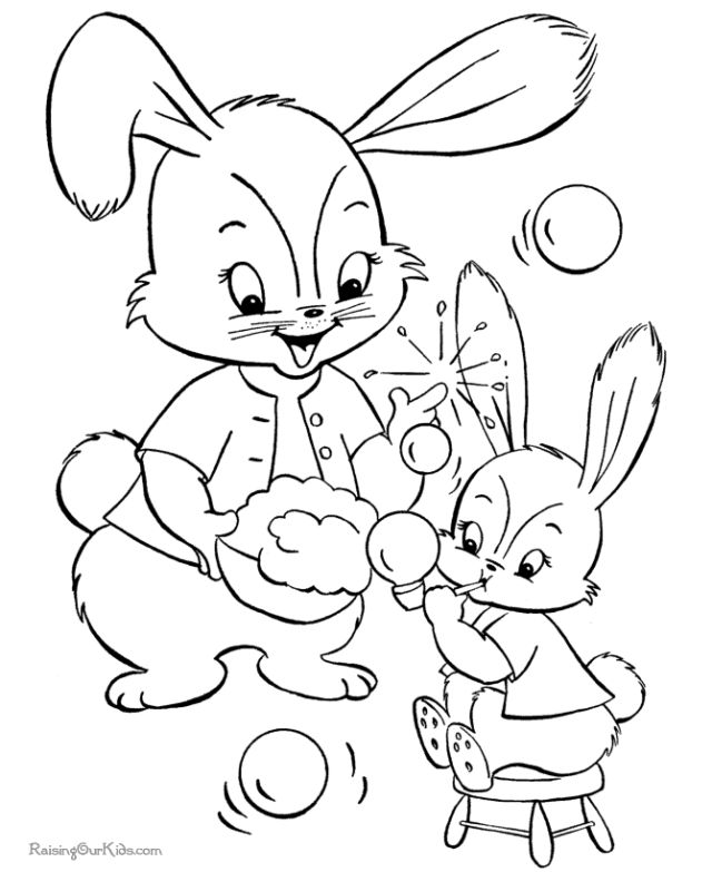 the kids will love these free printable easter bunny coloring pages raising our kids