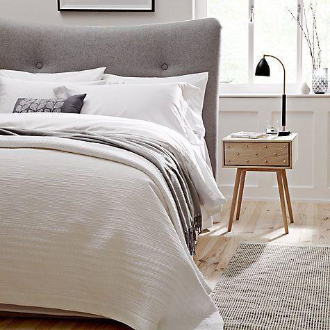 Buy Bethan Gray for John Lewis Genevieve 1 Drawer Bedside Table, FSC Oak Online at johnlewis.com