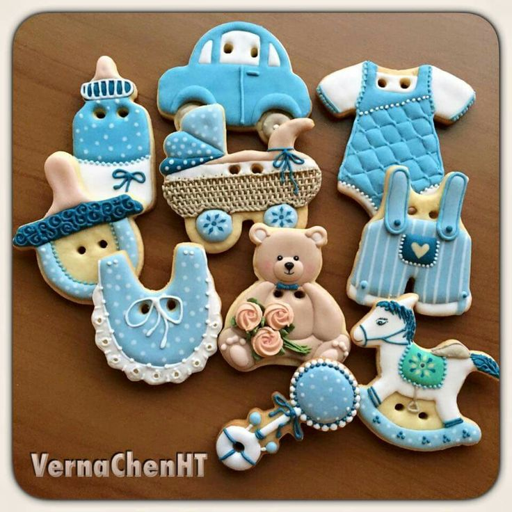 Baby Shower Cookies Boy ~ Best baby shower christening cookies cupcakes