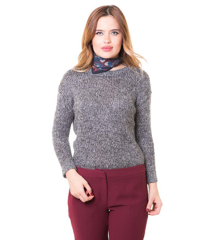 Karaca Bayan Triko Kazak - Siyah #womensfashion #knitwear #triko #kazak #karaca #ciftgeyikkaraca www.karaca.com.tr