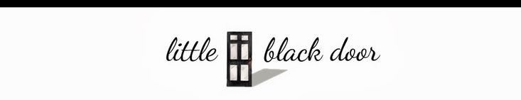 the little black door - Great before and after pic, home tour