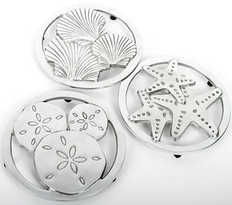 Coastal Trivets for Hot Pans and Dishes: http://www.completely-coastal.com/2016/05/coastal-nautical-kitchen-gadgets.html