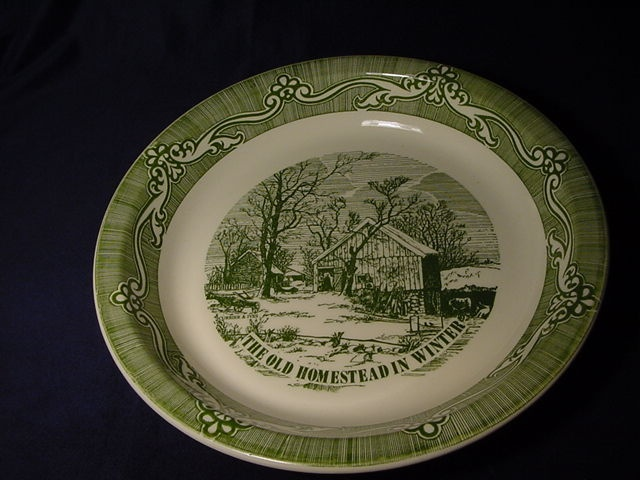 Currier and Ives Pie Plate Baking Dish Vintage Green White The Old Homestead inu2026 & 70 best Pie plates u0026 pans images on Pinterest | Pie plate Bakeware ...
