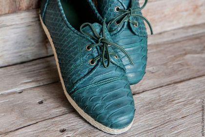 Обувь ручной работы. Ботинки из кожи питона . Кожаные ботинки. Maria. Интернет-магазин Ярмарка Мастеров. Ботинки, обувь