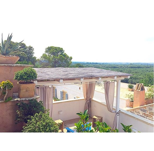 Morning view from our villa in Puglia, Italy