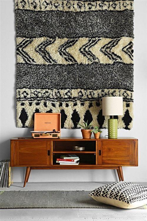 rug on a wall