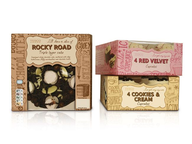 Tesco Standard Plus Cakes | Packaging of the World: Creative Package Design Archive and Gallery