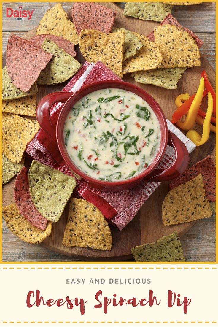 Cheesy Spinach Dip has never been easier. Serve this speedy starter with tortilla chips or fresh veggies for a party-worthy spread.