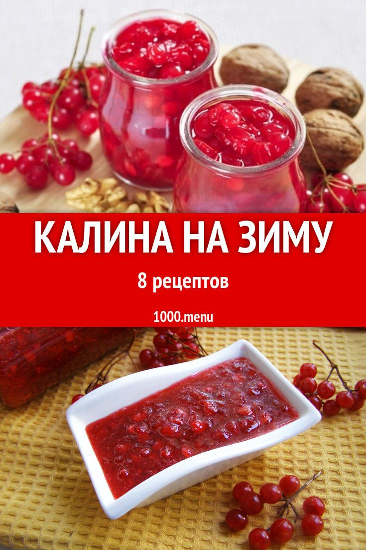 калина красная полезные рецепты сохранения на зиму
