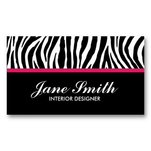 26 best pink zebra business cards images on pinterest pink zebra zebra print modern elegant stylish classy business card templates reheart Gallery