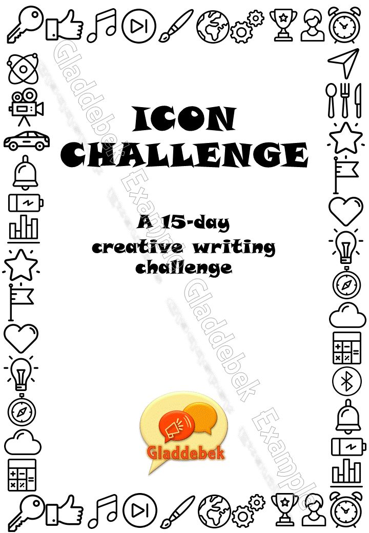 A 15-day creative writing challenge using icons and short phrases as inspiration