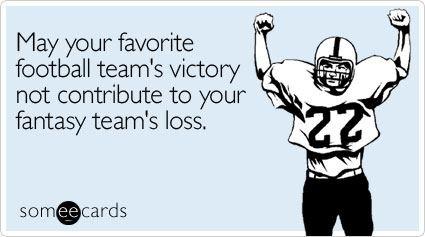 I love fantasy football