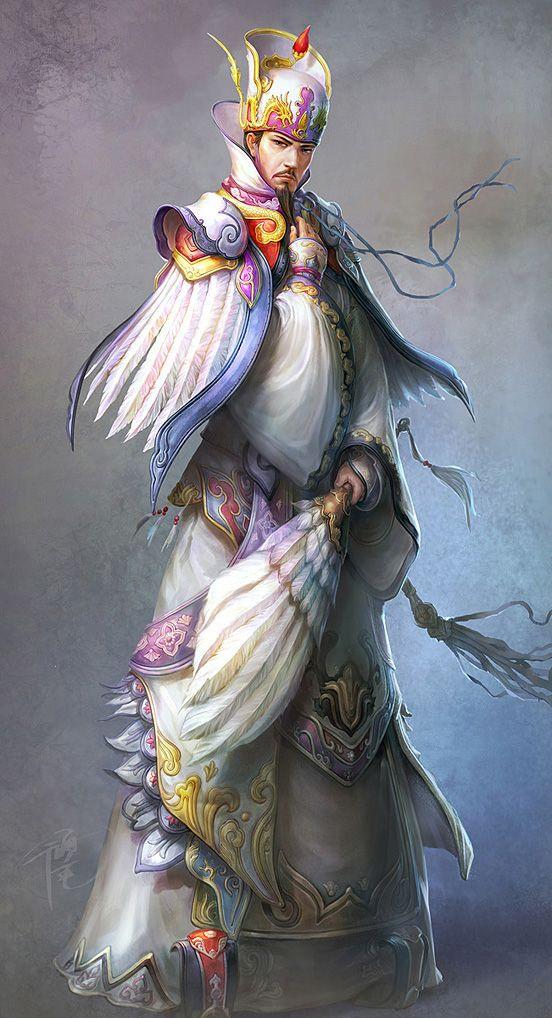 ZhuGe Liang | Illustration Art | The Design Inspiration.  dynasty warriors