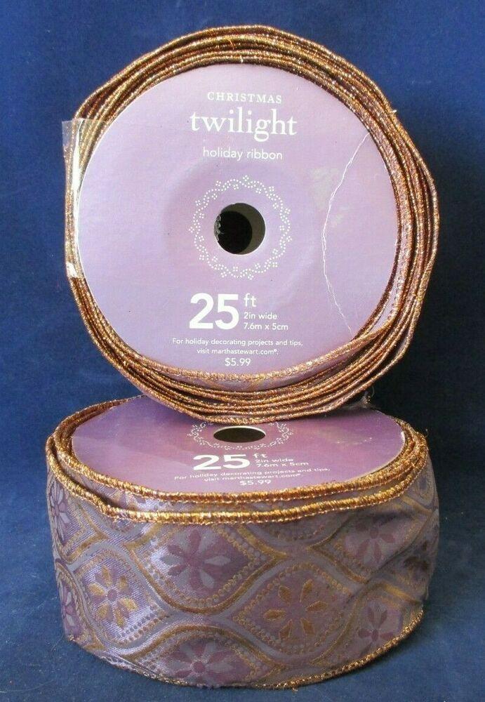 Vintage Christmas Twilight Holiday Ribbon by Martha Stewart Purple Tone ONE 25ft
