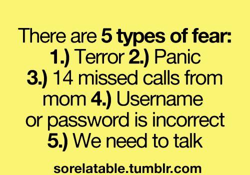 """Hahahahaha yes!! """"14 missed calls from mom"""" hahahahaha that's great"""