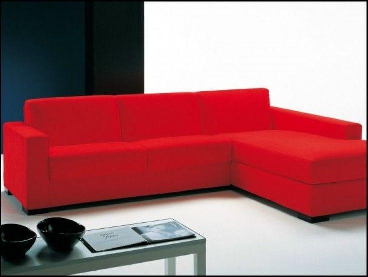 Red L Shaped Sofa