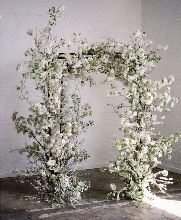 amazing wild white ceremony arch ideas