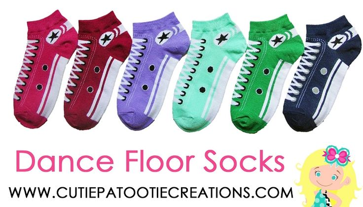 Dance Floor Party Socks Sneaker Pattern Print for Bar Mitzvah, Bat Mitzvah, Wedding, Sweet 16, Quinceanera. No Show Ankle Length Converse Sneaker Pattern Dance Floor Socks for Bar and Bat Mitzvahs  Cutie Patootie Creations