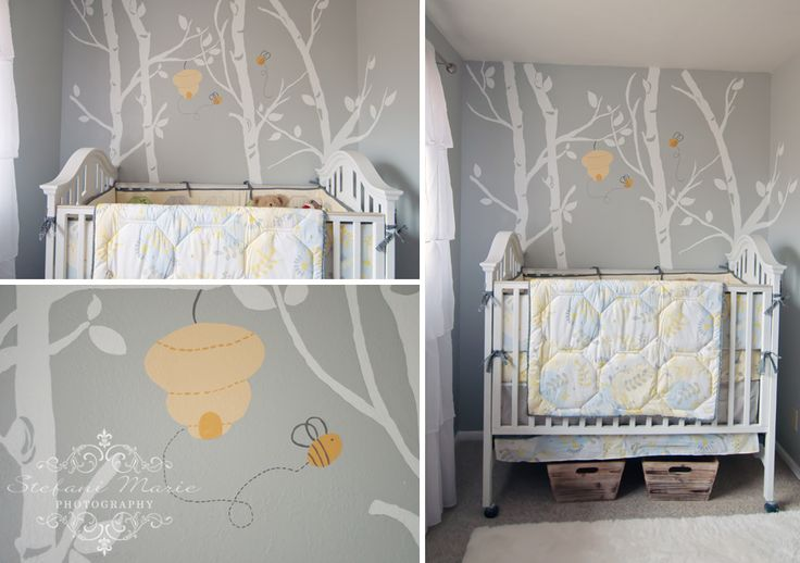 Bumble Bee Nursery | Yellow & Gray
