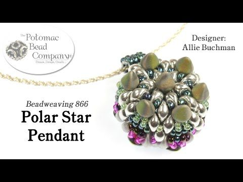 """This video tutorial from The Potomac Bead Company teaches you how to make Allie Buchman's """"Polar Star Pendant"""" design, supplies from www.PotomacBeads.com"""