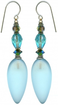 Owen glass earrings are delightful!