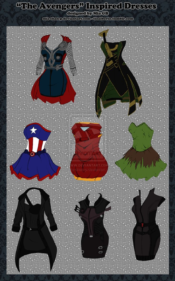 Avengers Dresses; mia-chan-p   I am never gonna get tired of these