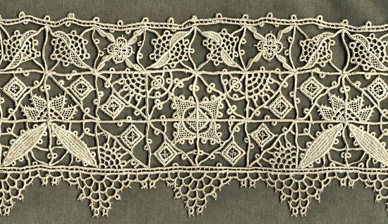 Reticello lace (16 or 18th C.)
