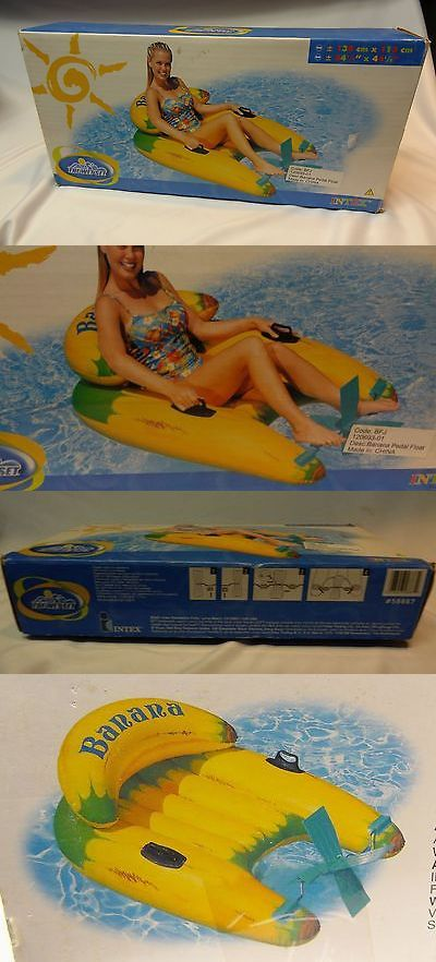 Floats and Rafts 181055: 2001 Intex The Wet Set Banana Pedal Inflatable Pool Lounge Chair Raft Float 54 ? -> BUY IT NOW ONLY: $59.99 on eBay!