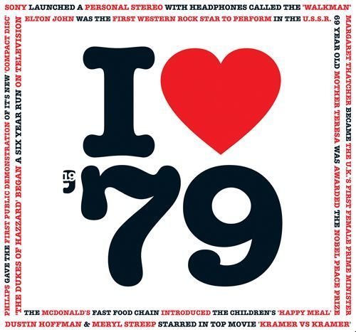 38th Birthday or Anniversary Gift - I Love 1979 Compilation CD & Greetings Card #TheCDCardCompany #BirthdayAnniversary
