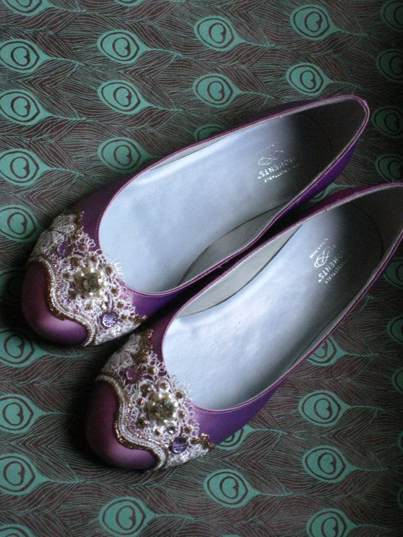 Of Course I Fall In Love With The 100 Shoes Stunning Sugarplum Fairy Purple Ballet Flats WeddingFlat