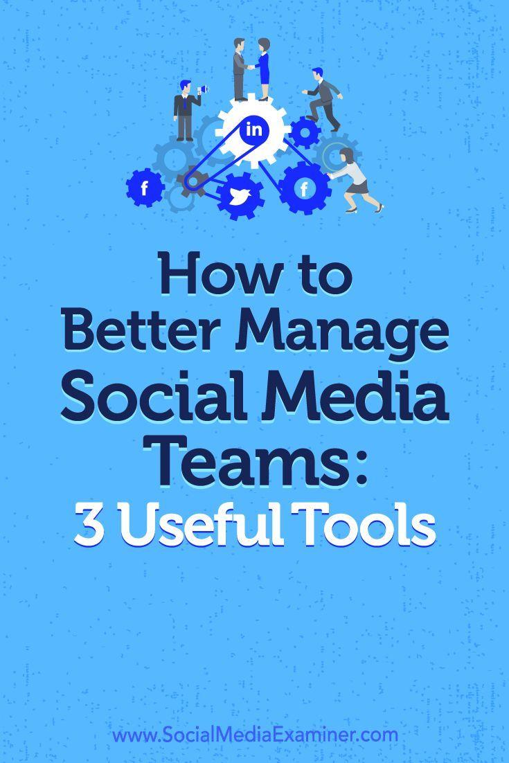 How To Better Manage Social Media Teams 3 Useful Tools Social Media Examiner Marketing Strategy Social Media Social Media Analytics Social Media Automation
