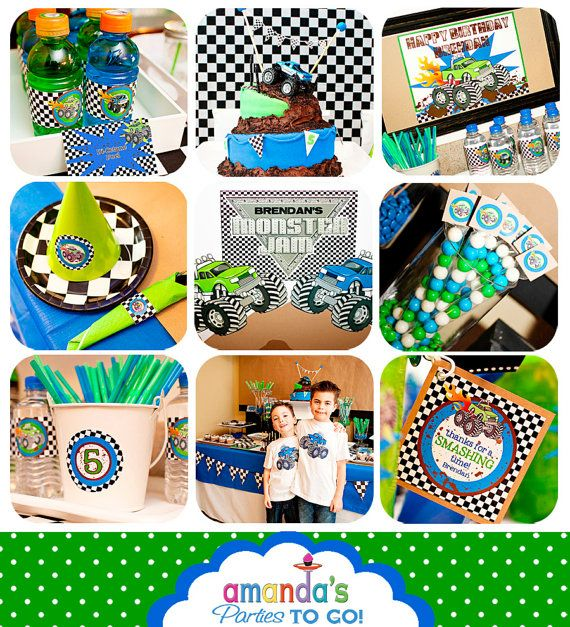 Monster Truck Party Printables Set - Birthday - by Amanda's Parties TO GO