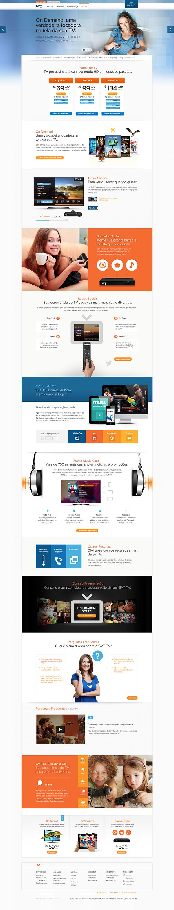 PORTAL GVT on BehanceWebdesign