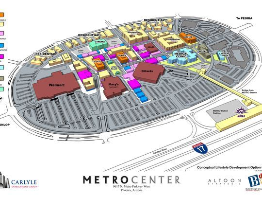 A site plan for the redevelopment of Phoenix's Metrocenter
