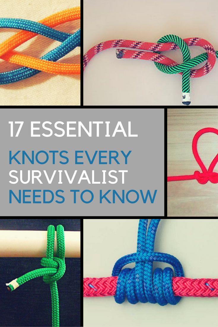 17 Essential Knots Every Survivalist Needs to Know.   Ideahacks.com