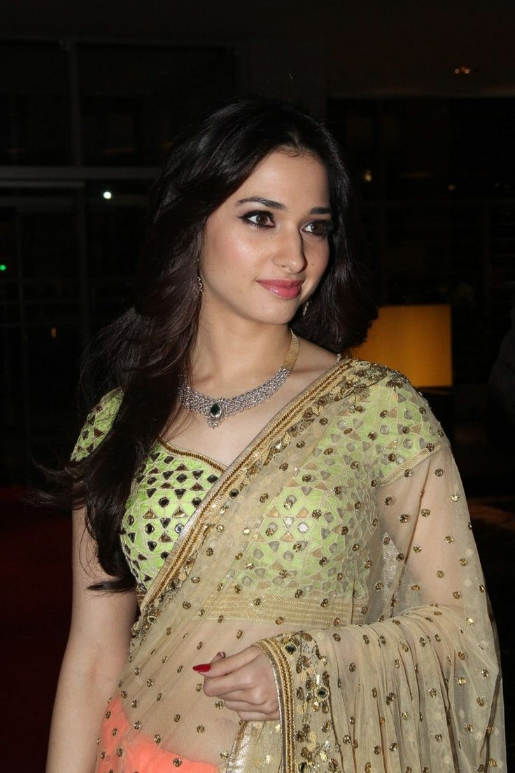 Tamanna Latest Hot Navel Show Stills In Orange Saree - Tollywood Stars