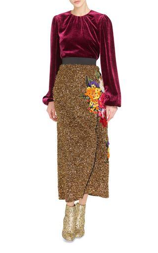 Eyelash Lurex Wrap Skirt by DOLCE & GABBANA Now Available on Moda Operandi