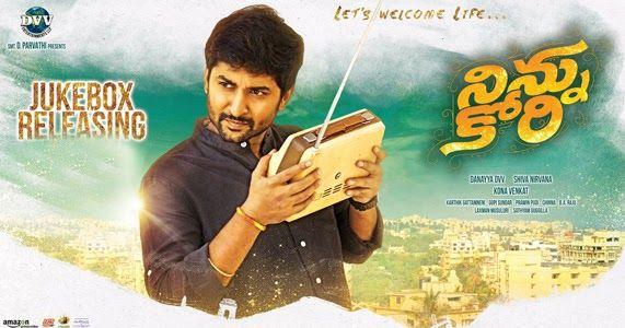 Listen Ninnu Kori Movie Songs Online, Nani, Nivetha Thomas and Aadhi Pinisetty starrer Ninnu Kori Telugu Film Juke Box online by Mango Music,