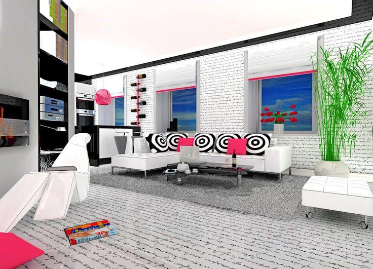 widok miejsca na wypoczynek: styl , w kategorii Pokój multimedialny zaprojektowany przez Tatiana Filus Projektant Wnętrz