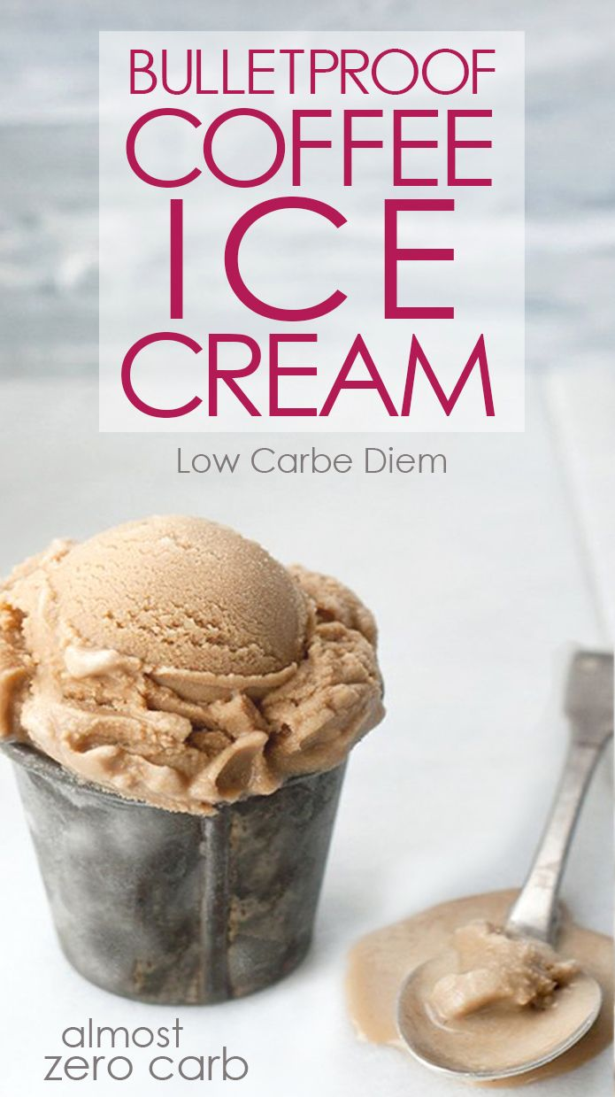 Almost no carb keto ice cream recipe made with Bulletproof® Coffee. No consequences plus a caffeine kick.
