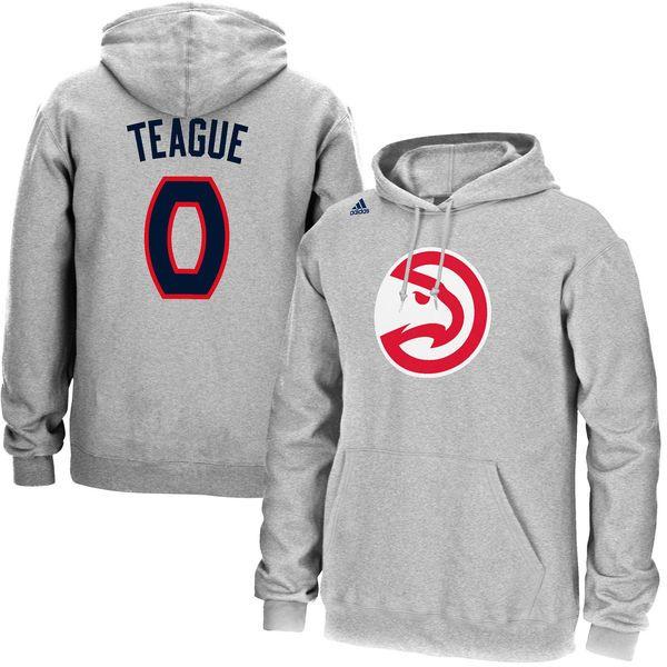 Jeff Teague Atlanta Hawks adidas Name & Number Pullover Hoodie - Gray - $41.99
