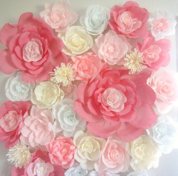 Giant Paper Flower Wall Display 4ft X 4ft Wedding Backdrop Shop