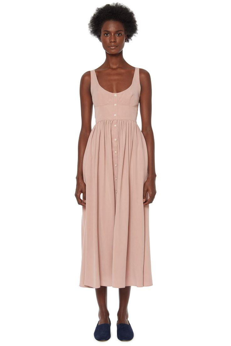 Button Front Midi Dress #MaraHoffman
