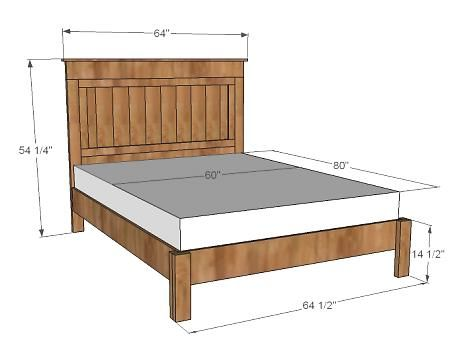 DIY farmhouse bed. I like the platform style, but I would use the reclaimed headboard instead.