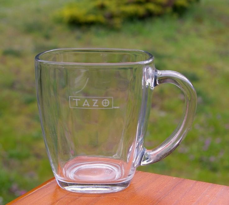Starbucks Coffee Company Tazo Tea Clear Glass Coffee Mug  | eBay