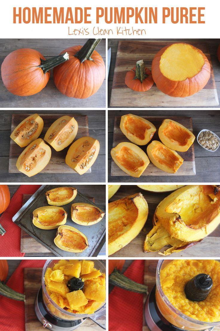 Homemade Pumpkin Purée & Roasted Pumpkin Seeds - Lexi's Clean Kitchen